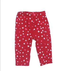 Carter's Red Heart Leggings, Size 3-6 M